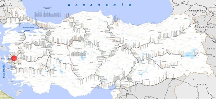 Manisa Organize Sanayi Lojistik Merkezi Lokasyonu